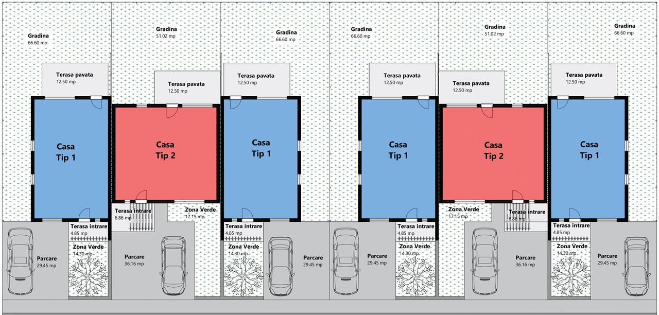 Ansamblul de case Tip Triplex - Unirii -IMOBILIARE SIBIU