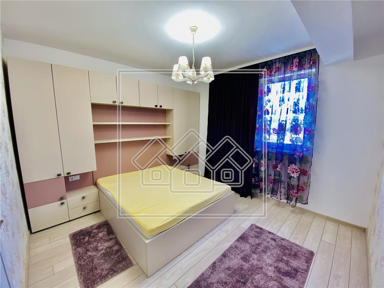Apartament de inchiriat in Sibiu -3 camere, 2 bai si balcon-Lazaret