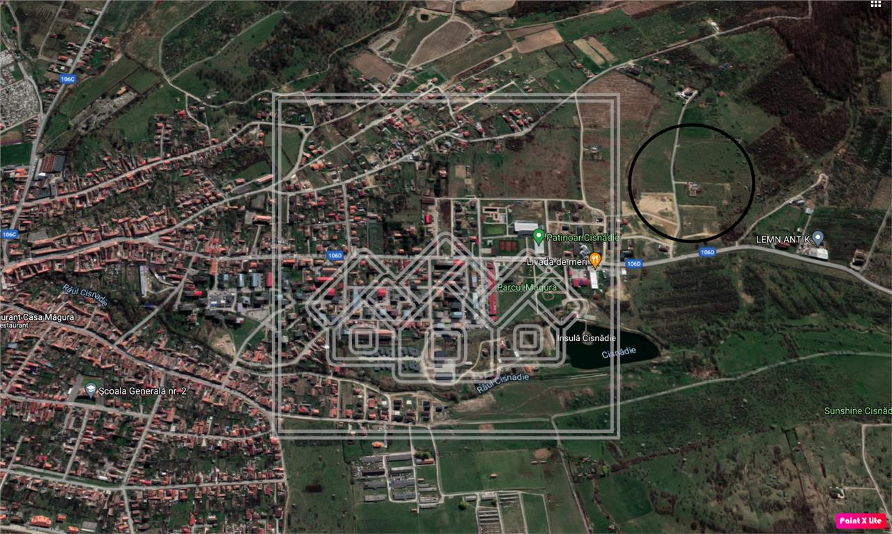 Teren de vanzare in Sibiu - Cisnadie - 600 mp/parcela