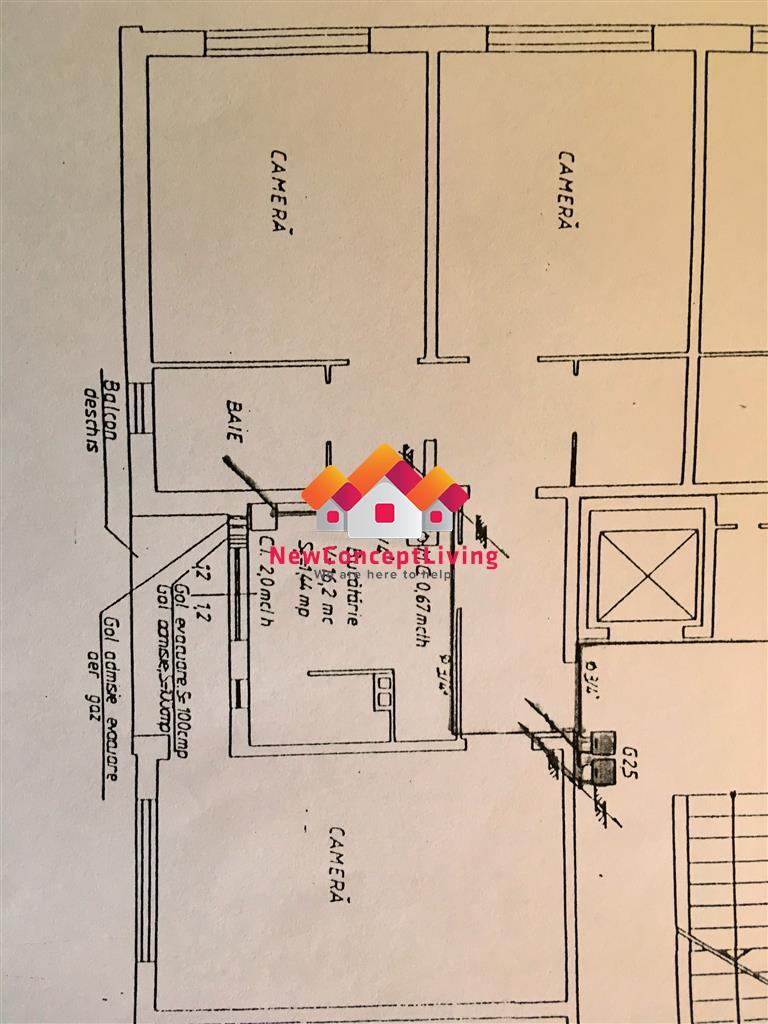 Apartament de vanzare in Sibiu -3 camere- DECOMANDAT - V. Aaron