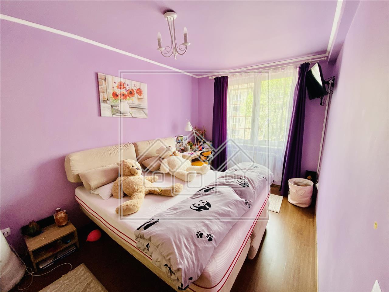 Apartament de vanzare in Sibiu-2 camere cu balcon-etaj 2/5-Zona Luptei