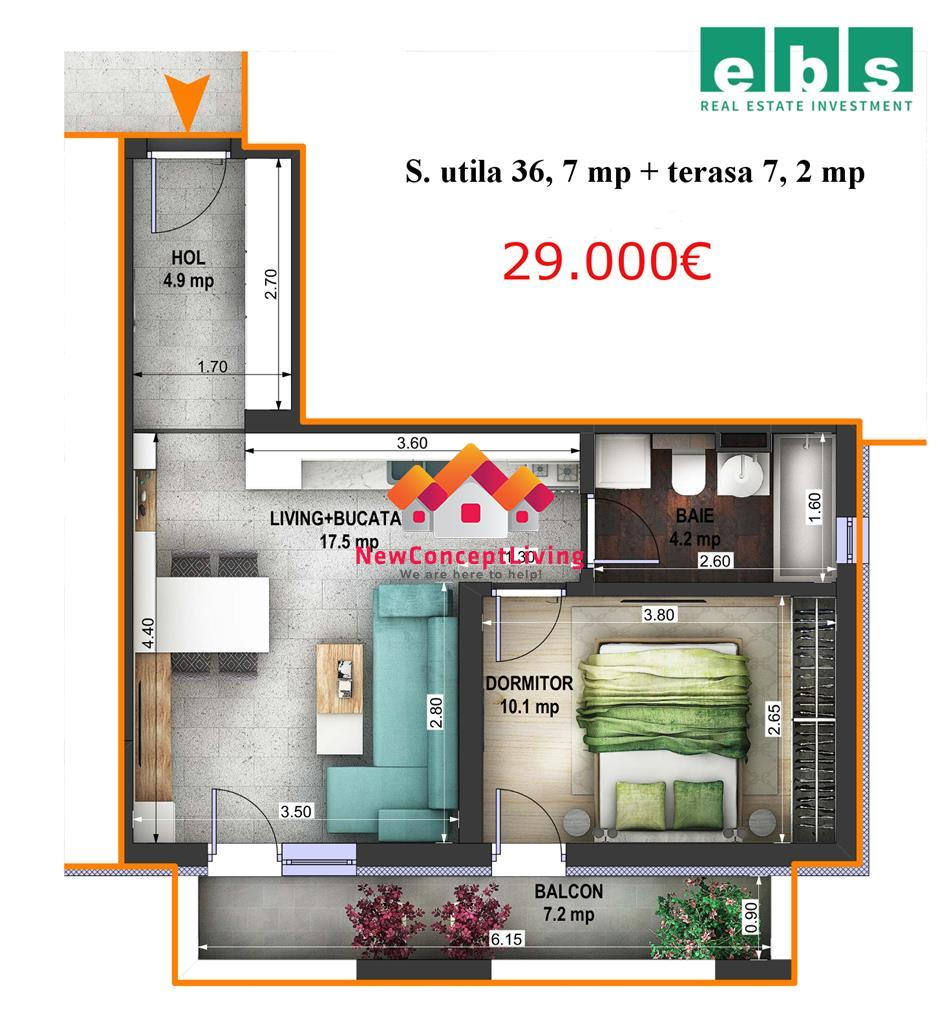 Apartament 2 camere de vanzare in Sibiu - Optimus Maxi - hibrid ideal