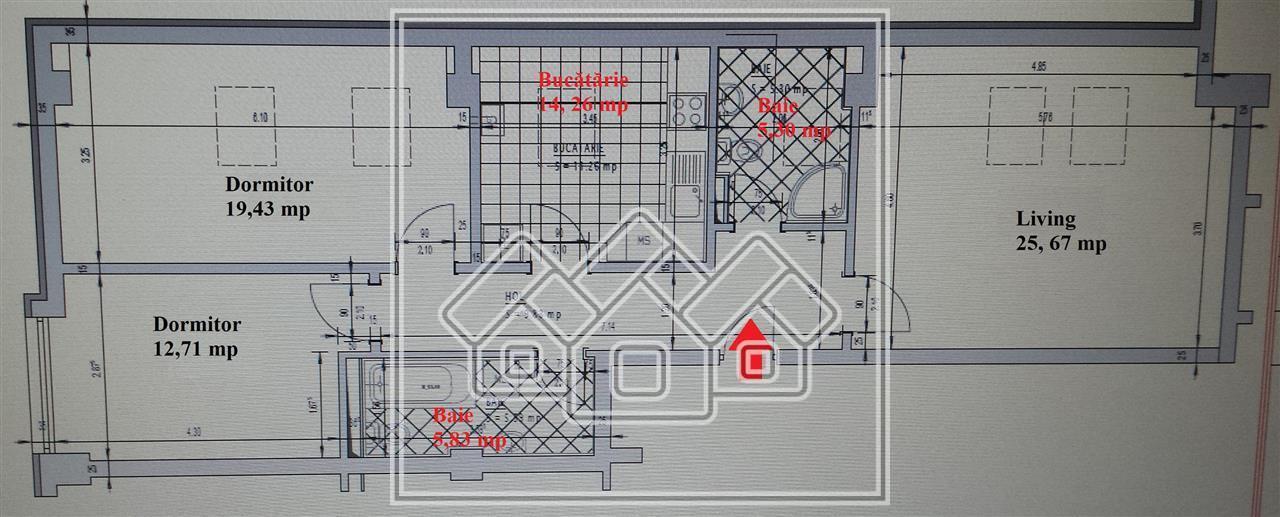 3 Zimmerwohnung zum Verkauf in Sibiu, Dachbodentyp