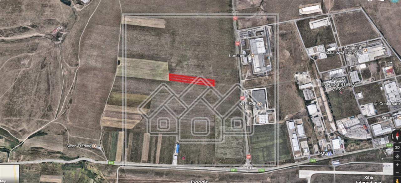 Teren de vanzare in Sibiu - extravilan - Parc Industrial Vest