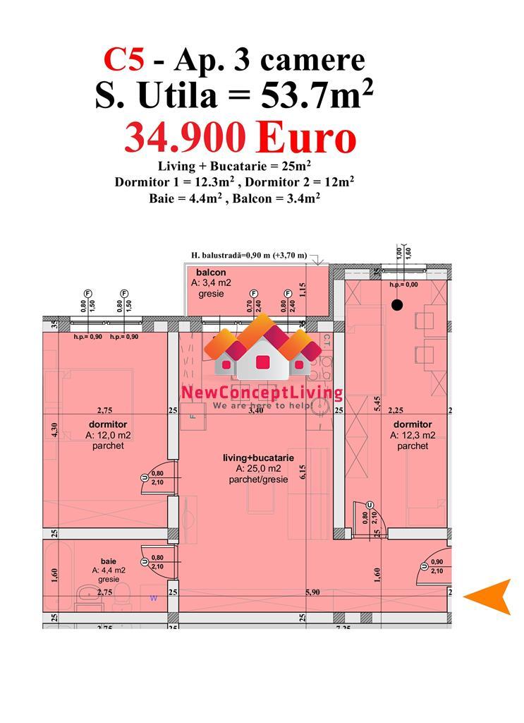 Apartament vanzare SIBIU – 3 camere- pret atractiv