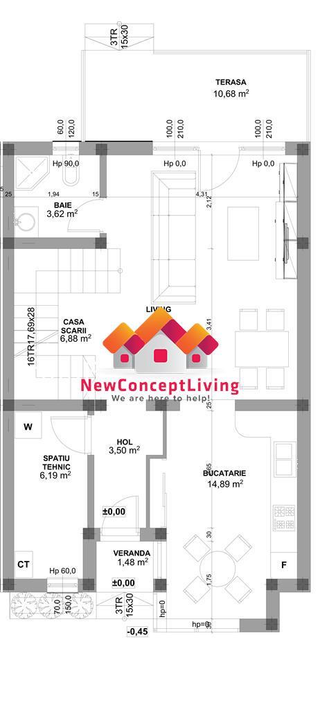 Casa de vanzare in sibiu - Duplex 4 camere, 119mp, 2 bai + gradina