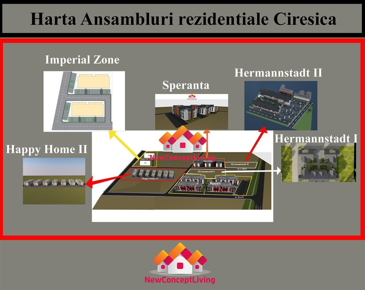 Garsoniera de vanzare in Sibiu -ansamblul rezidential Speranta