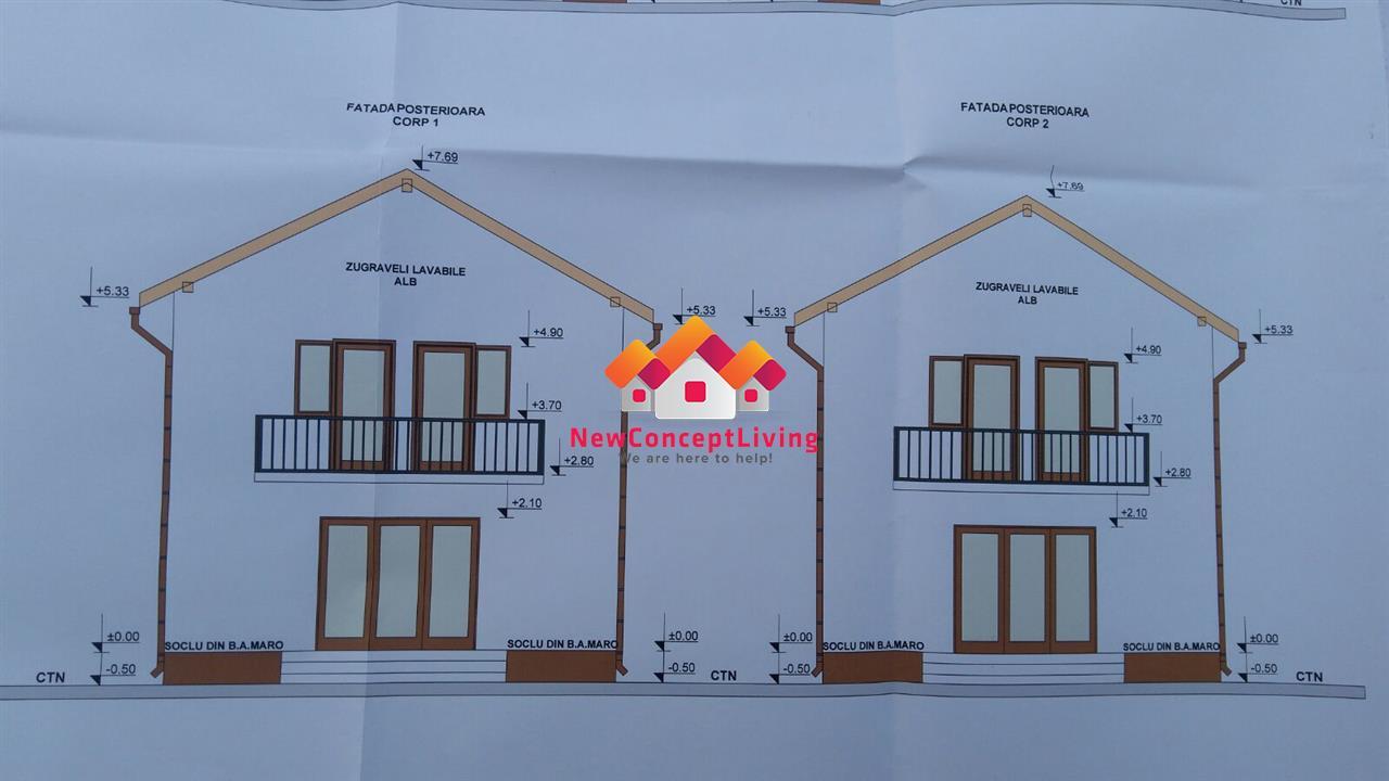 Casa individuala de vanzare, curte libera de 200 mp, zona linistita