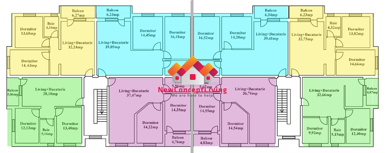 Apartament de vanzare in Sibiu-3 camere-70.66 mp-zona centrala