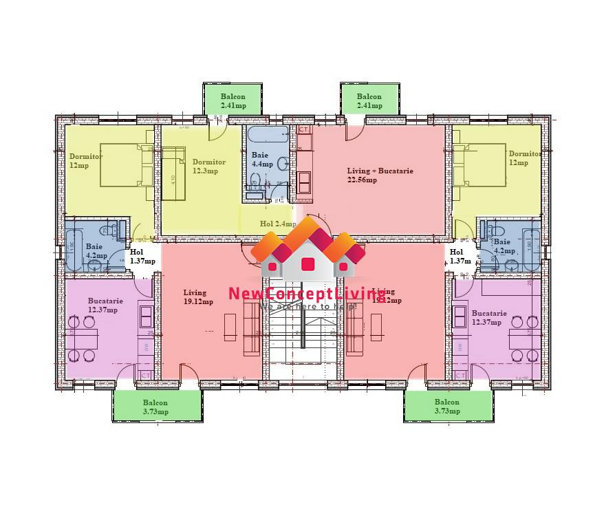 Apartament 2 camere de vanzare in Sibiu - cu gradina