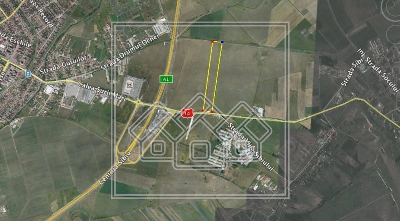 Teren de vanzare in Sibiu- 19.200 mp - reper magazin Hornbach