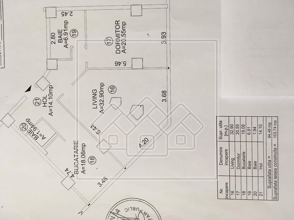 Apartament de inchiriat in Sibiu 3 camere - zona ULTRACENTRALA