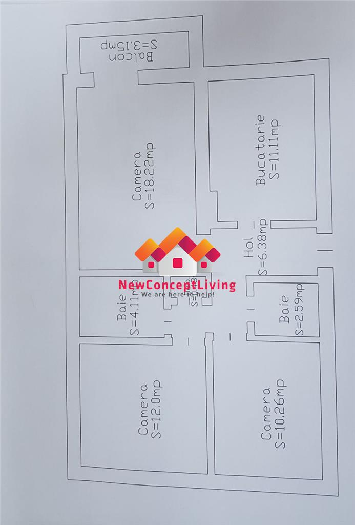 Apartament de vanzare in Sibiu-3 camere-decomandat-zona premium