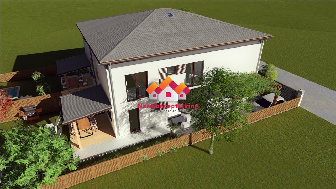 Casa de vanzare in Sibiu - Tip Duplex - 120mp utili+170mp curte libera