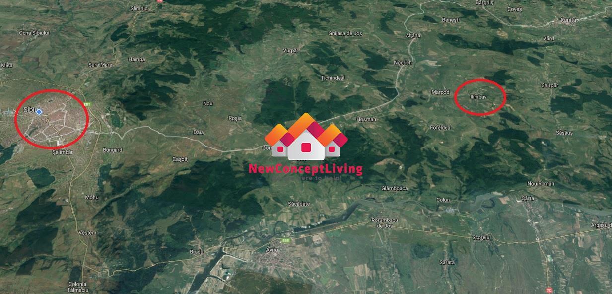Casa de vanzare in Sibiu -Ilimbav - teren 1200 mp