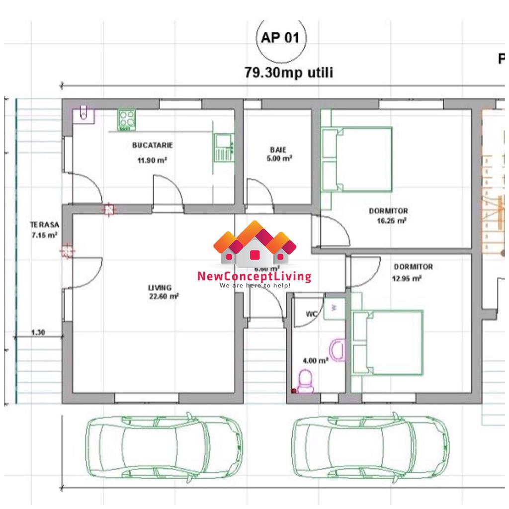 Apartament 3 camere de vanzare in Sibiu - Zona Mall