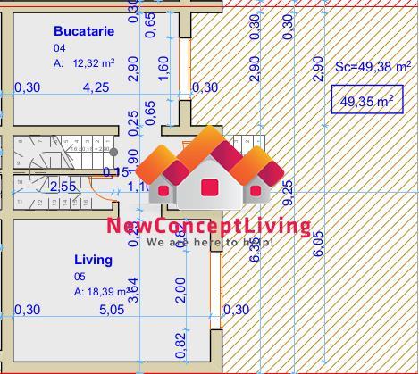 Casa de vanzare in Sibiu - Tip Duplex - 3 Camere si Gradina 122 mp.