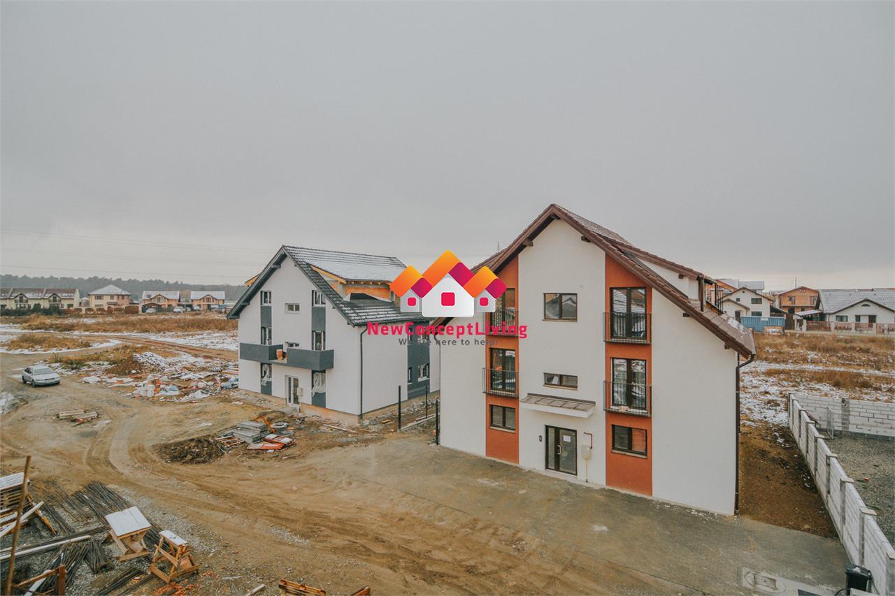 Apartament 2 camere in Sibiu cu Gradina proprie la Vila de 2 etaje
