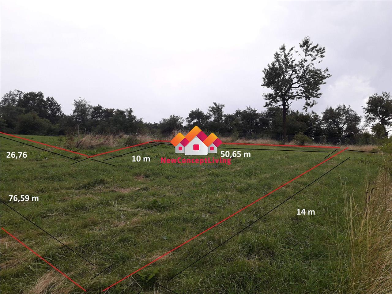 Teren de vanzare in Sibiu - zona Tropin Noi - 809mp