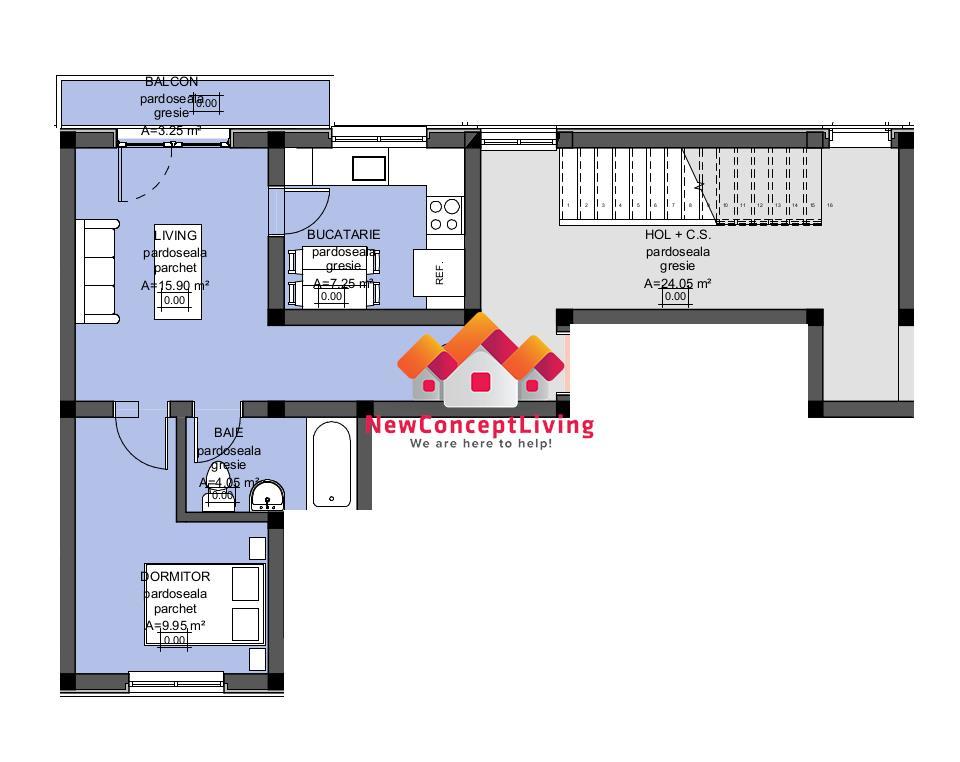 Apartament de vanzare in Sibiu - predare LA ALB