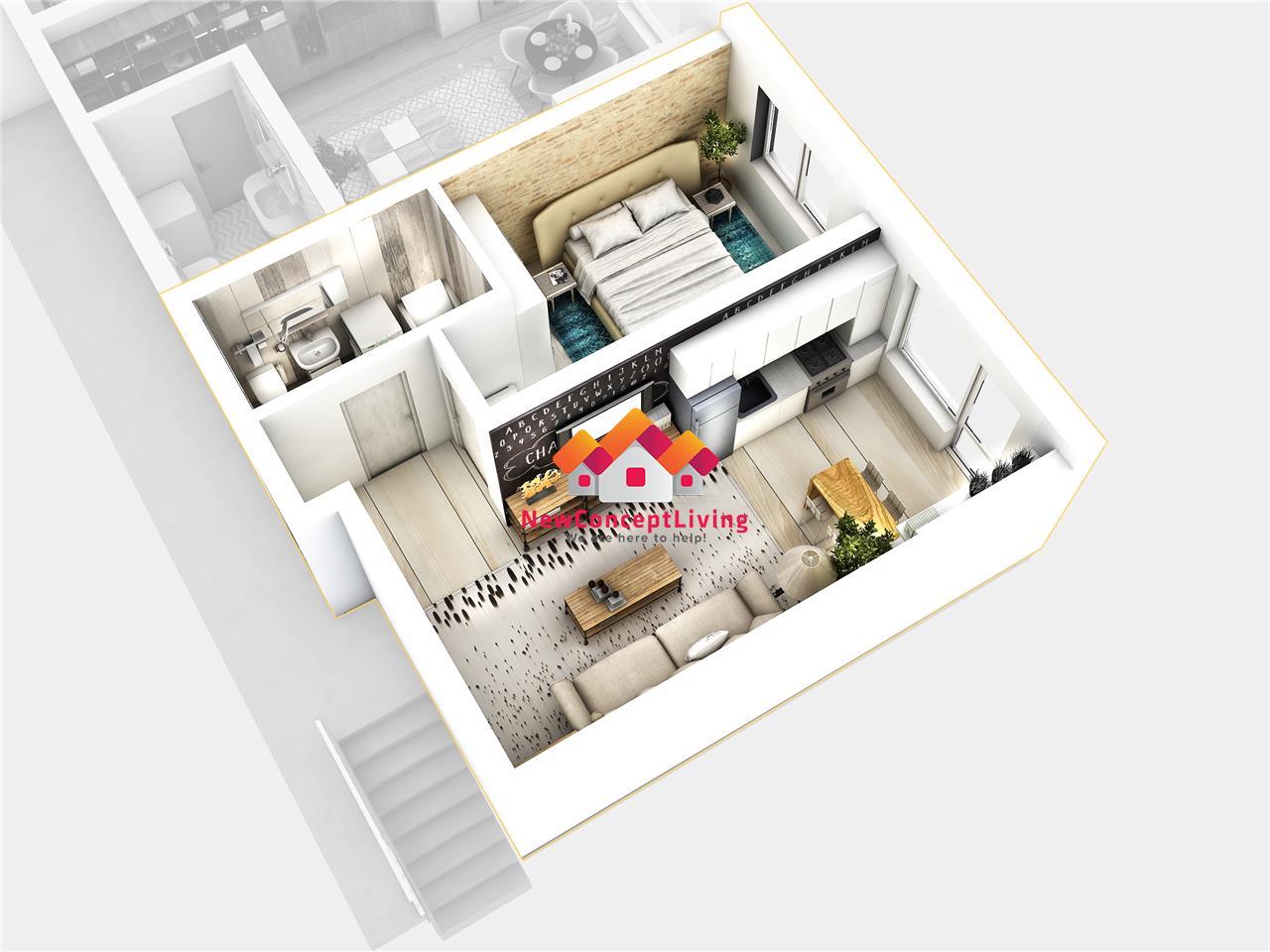 Apartament 2 camere - ansamblu rezidențial nou lângă lac