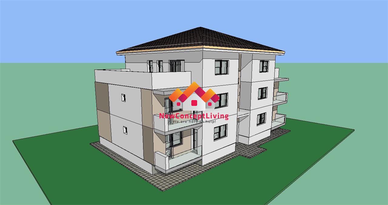 Apartament de vanzare in Sibiu - etaj 1 - balcon de 7 mp