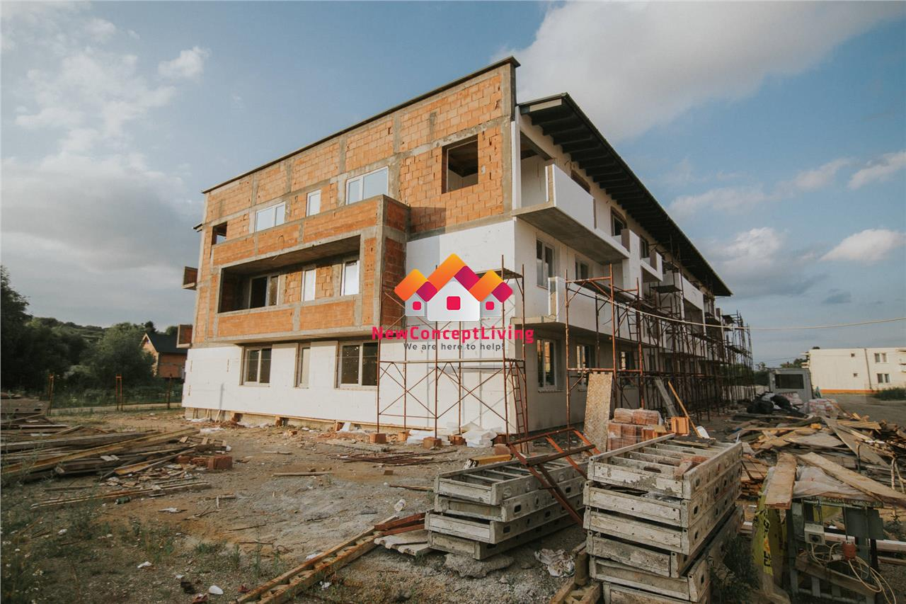 Apartments for sale in Sibiu, with terraces of 24.5 sqm, 2 bathrooms