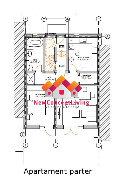 Apartament de vanzare in Sibiu - INTABULAT- complet decomandat