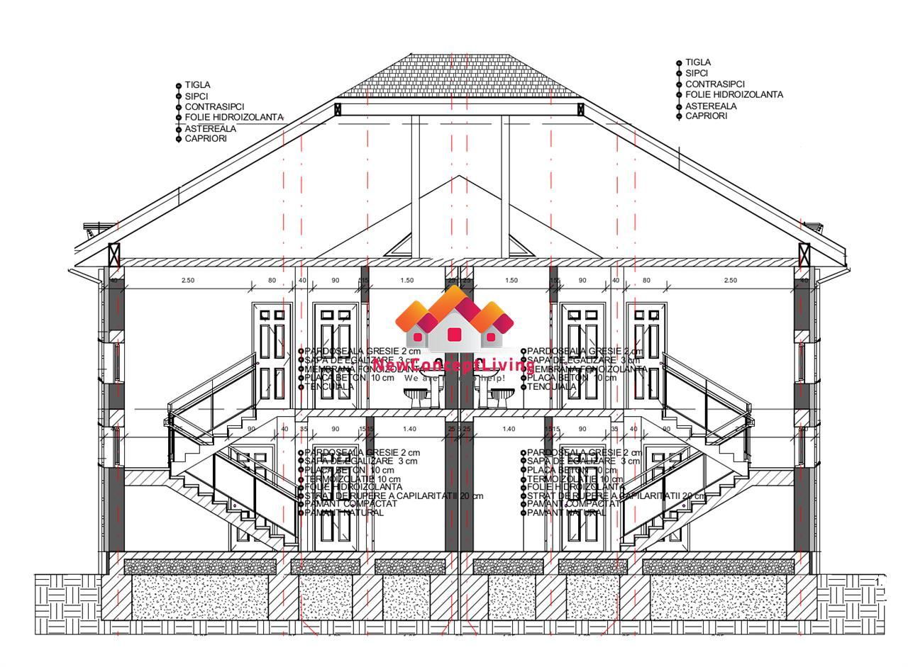 Casa de vanzare in Sibiu - in duplex - predare LA CHEIE