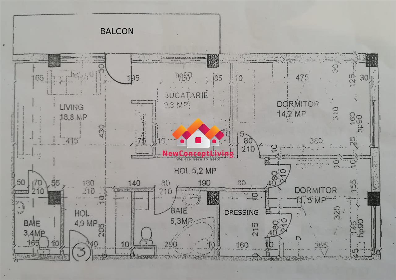 Apartament de vanzare in Sibiu - 3 camere decomandate - Turnisor