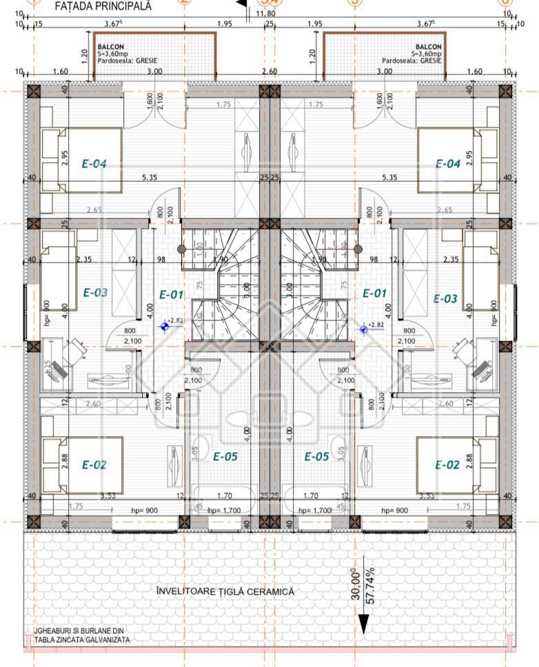 Casa de vanzare in Sibiu de Tip Duplex cu 4 camere - Zona Linistita