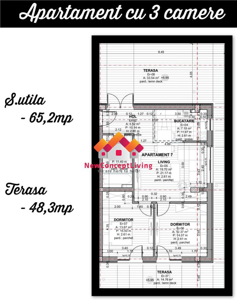 Apartament de vanzare in Sibiu - tip PENTHOUSE - predare LA CHEIE
