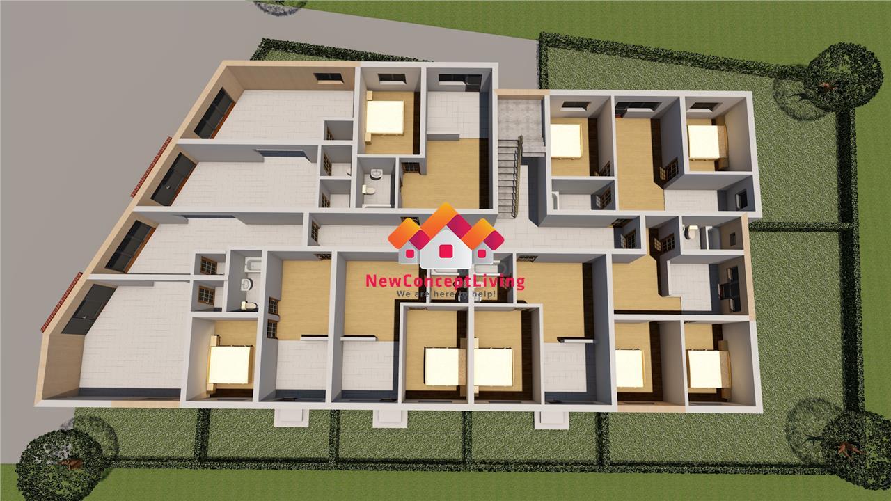 Apartament de vanzare in Sibiu - 92 mp curte proprie si acces auto