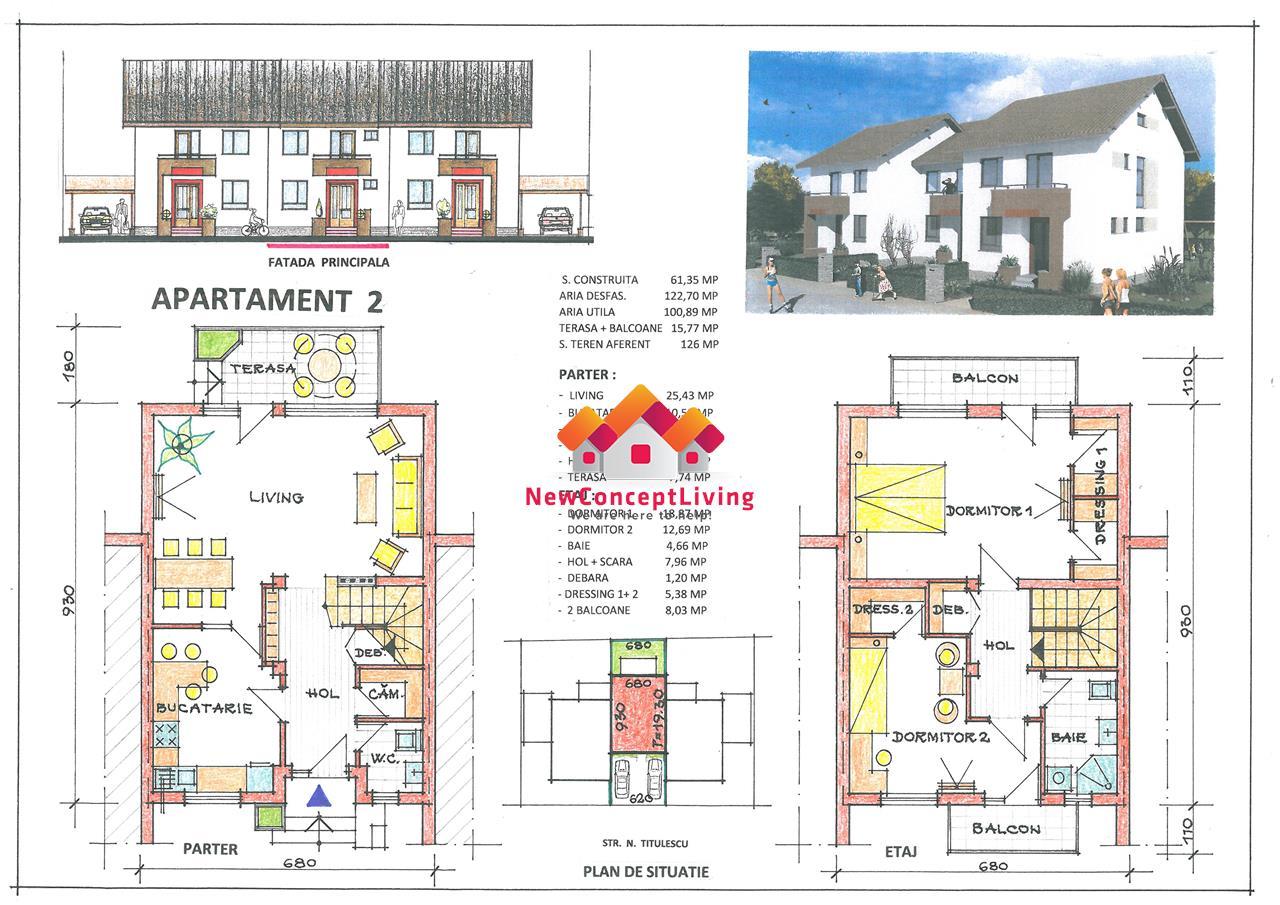 Casa de vanzare in Sibiu - Tip Triplex - Gradina - Zona XXL