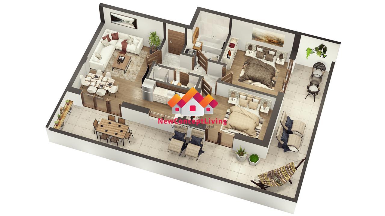 Penthouse cu 3 camere de vanzare in Sibiu - lift- zona Industrial Vest