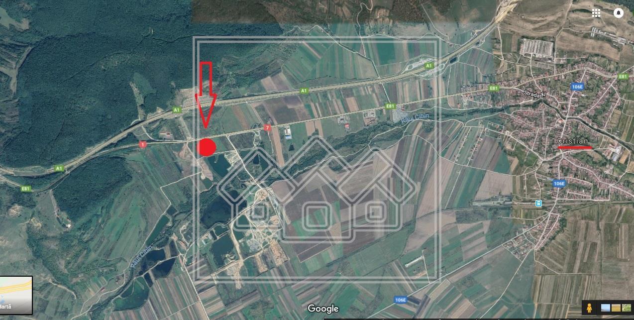 Teren de vanzare in Sibiu - iesire din Cristian - 3500 mp