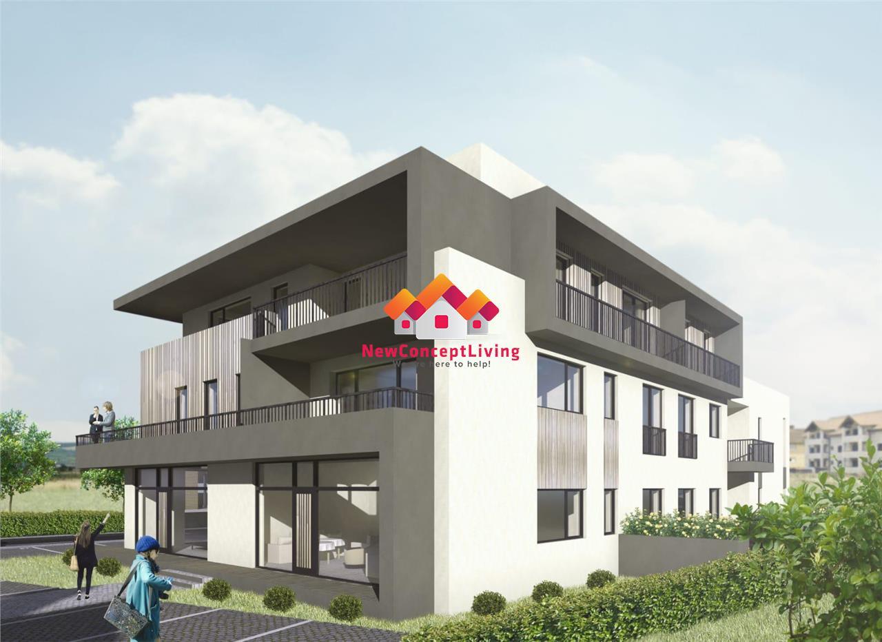 Apartament de vanzare in Sibiu 3 camere cu Gradina de 60 mp si Terase