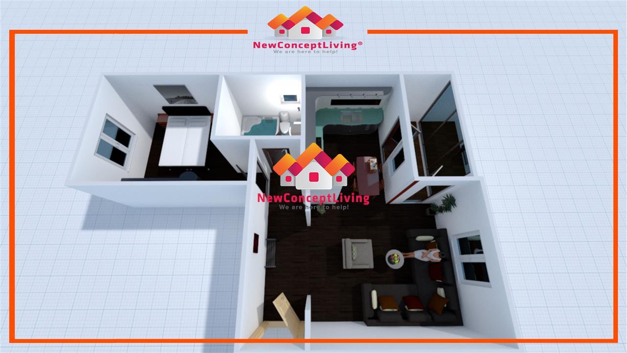 Apartament de vanzare in Sibiu - 2 Camere - Etaj 1 cu Balcon