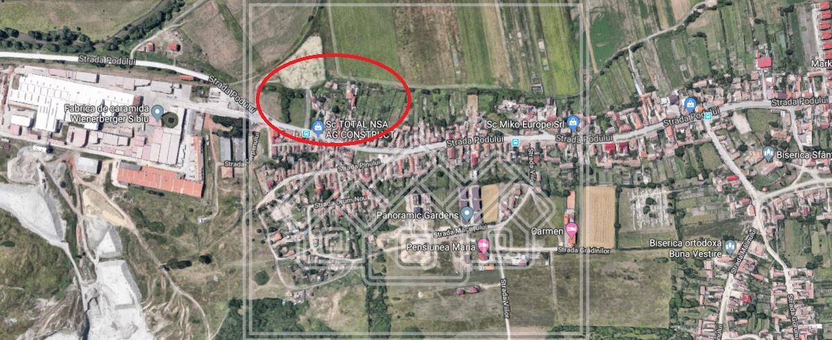 Teren de vanzare in Sibiu - zona Gusterita - 765 mp