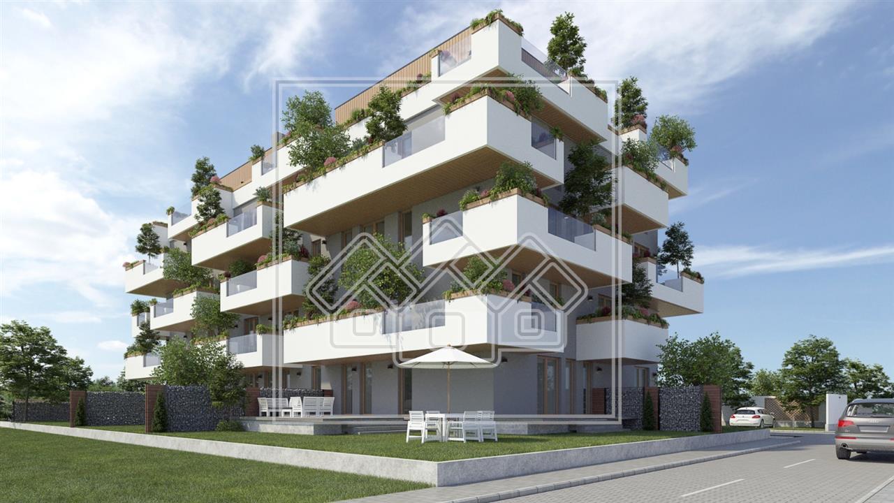Apartament de vanzare in Sibiu - Etaj 1 cu Terasa in bloc cu piscina