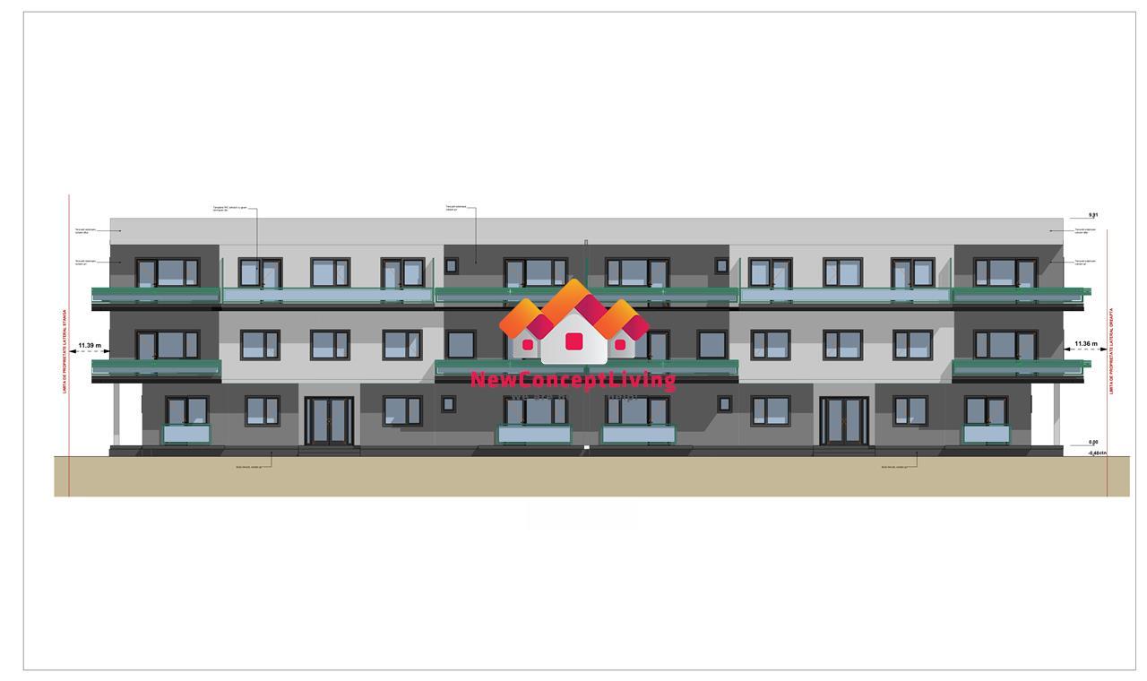 Apartament de vanzare in Sibiu - decomandat - cu gradina - Selimbar