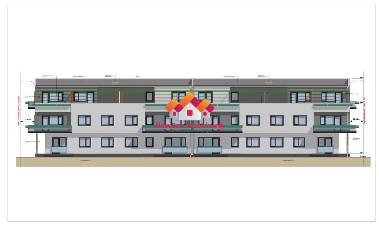Apartament de vanzare in Sibiu - 4 camere - balcon si terasa generoasa