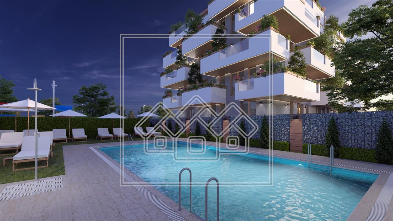 Apartament de vanzare in Sibiu cu 3 camere si terase de 26 mp