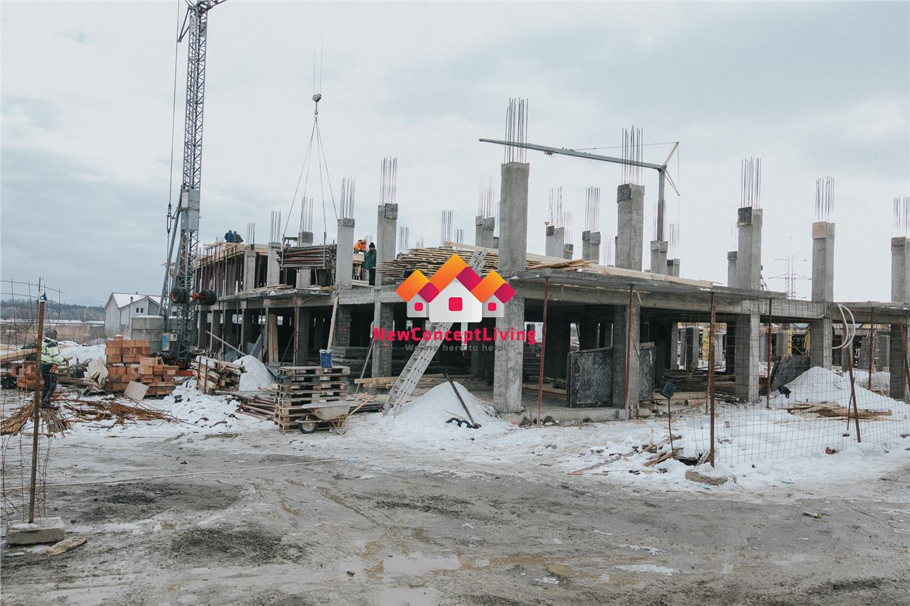 Apartament de vanzare in Sibiu - 3 camere, terasa generoasa - 58.90 mp