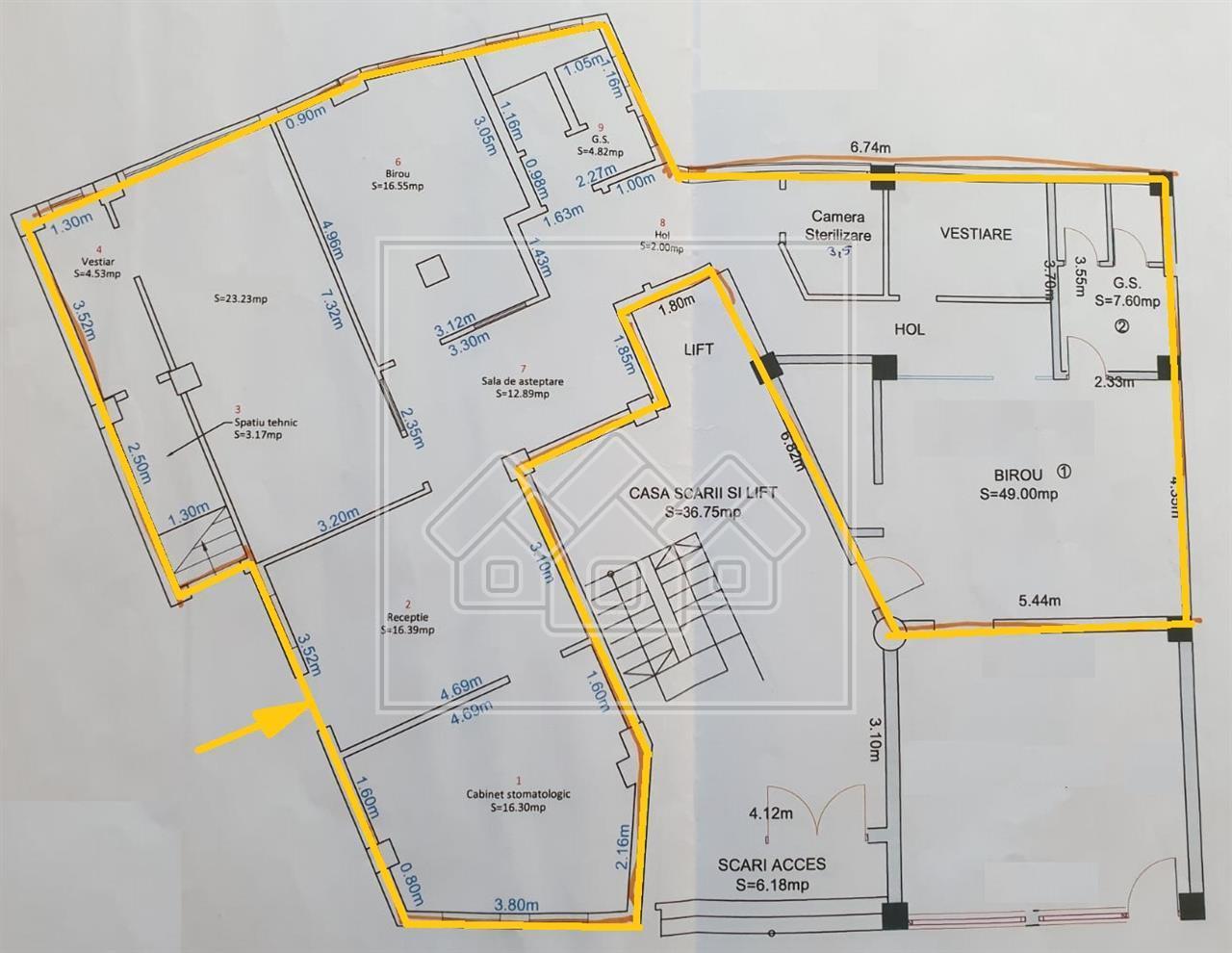 Spatiu comercial central de vanzare in Sibiu, ultramodern