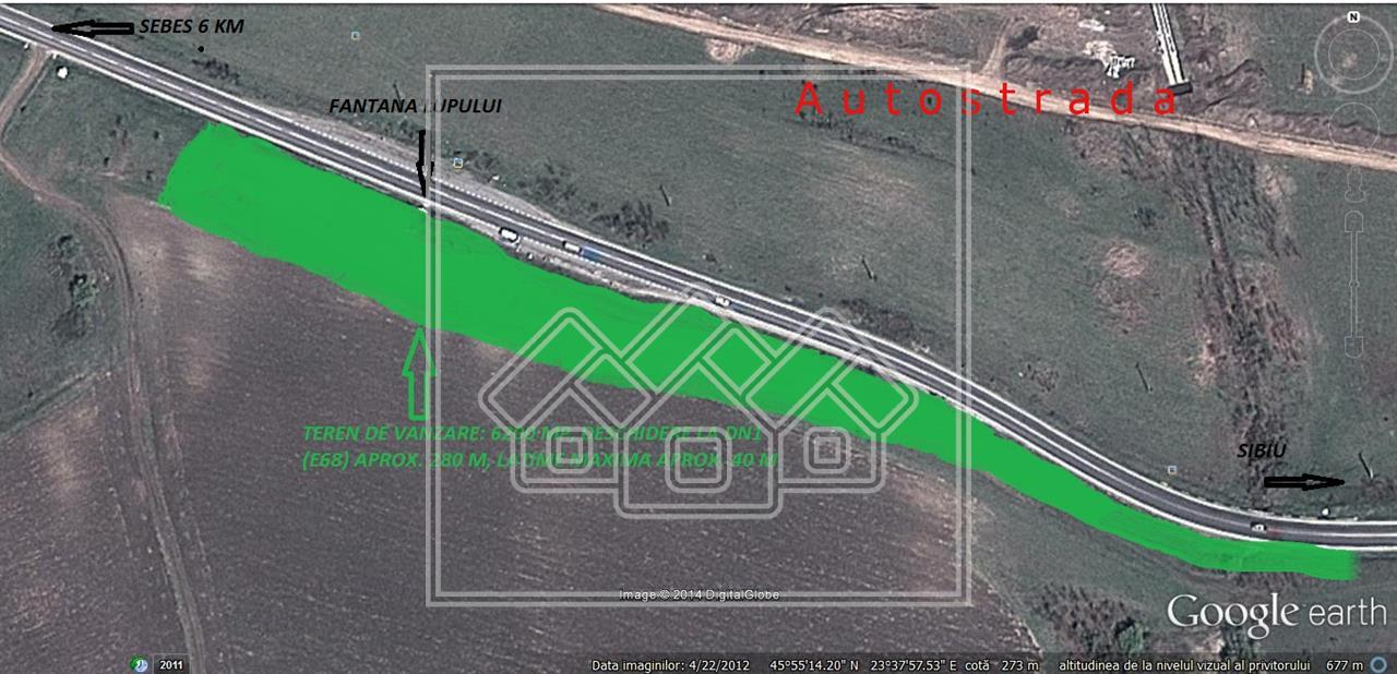 Teren de vanzare in zona Rahau - 6200 mp - 300 ml deschidere la DN1