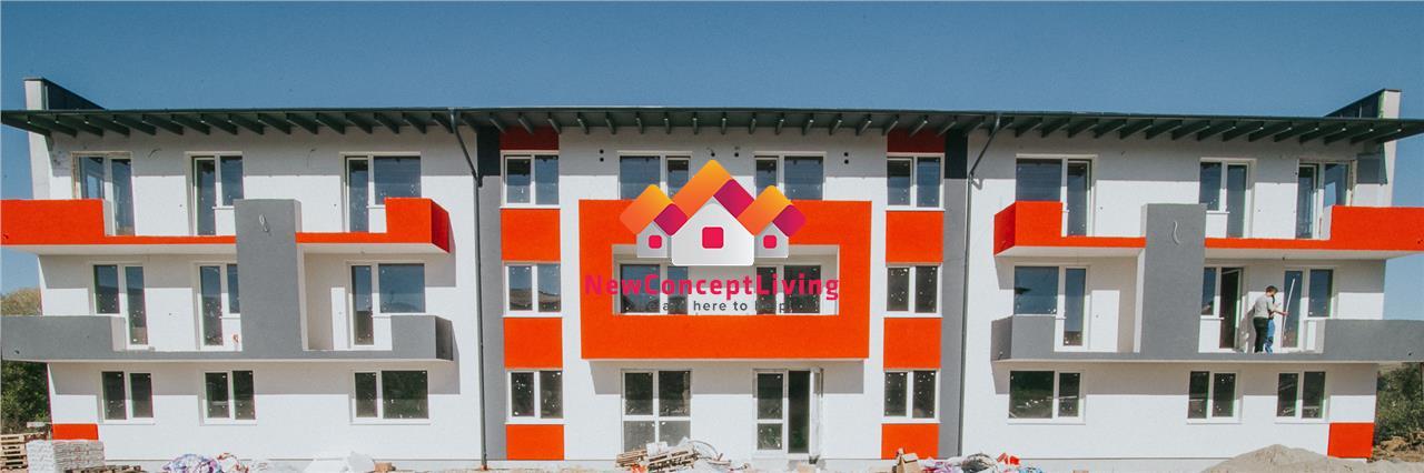 Apartament de vanzare in Sibiu(Cisnadie)- 2 camere - 40.4 mp+balcon