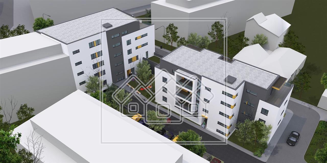 Apartament de vanzare in Sibiu- 2 camere si balcon de 13 mp-P.Cluj