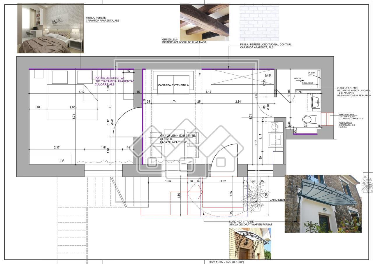 Apartament de vanzare in Sibiu - 2 camere - Central - Ideal Investitie