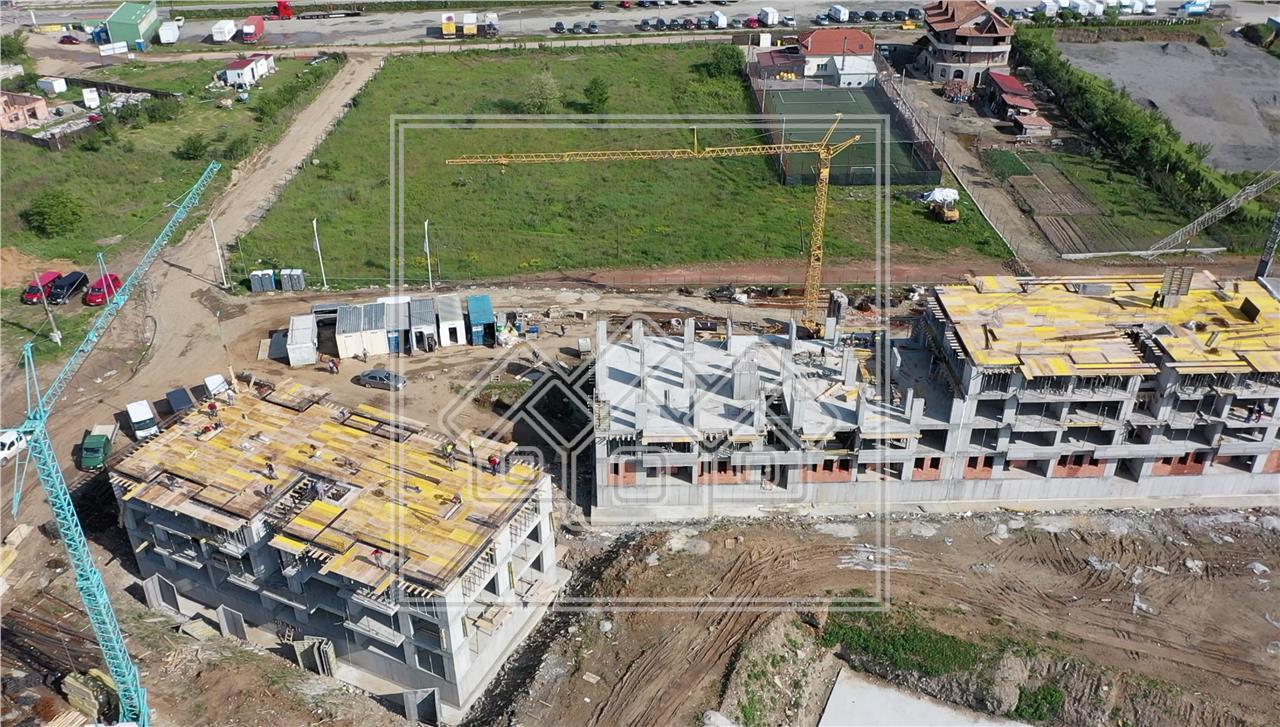 Garsoniera de vanzare in Sibiu - cu 2 balcoane - etaj intermediar